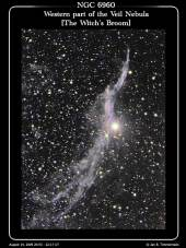 NGC6960 - Western Part of the Veil Nebula - The Witch's Broom